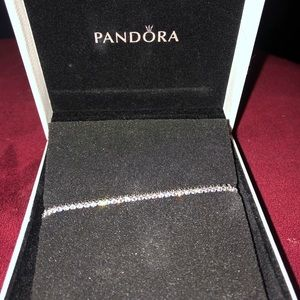 Pandora silver tennis bracelet